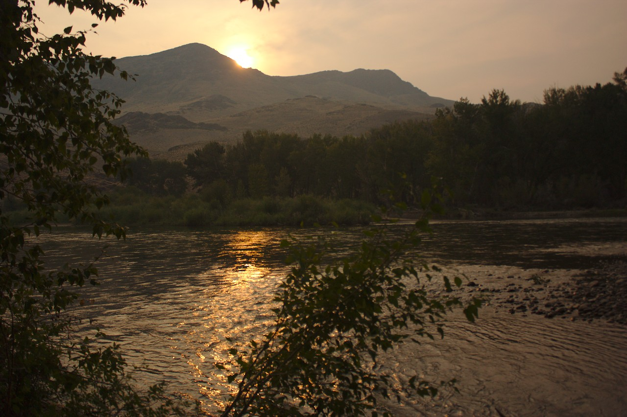 Salmon River Valley sunset
