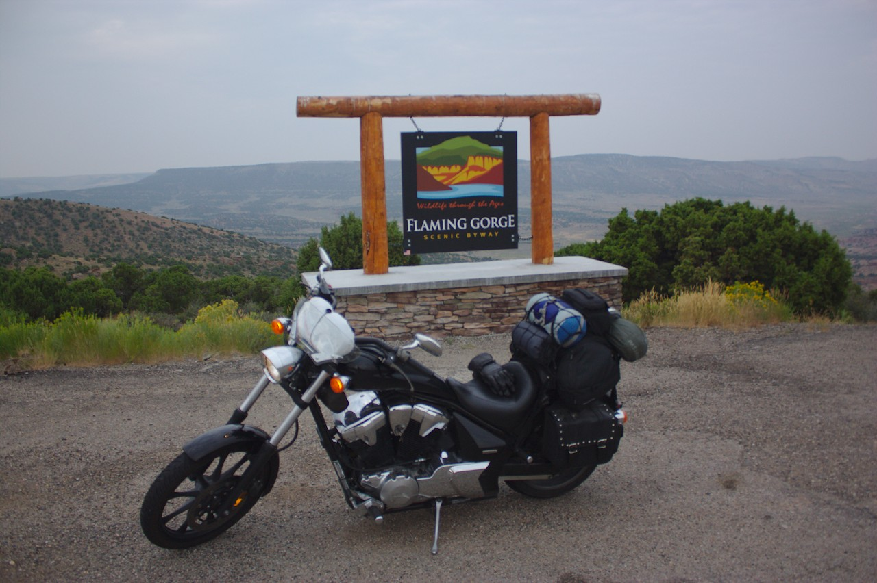 Entrance to the Flaming Gorge Scenic Byway