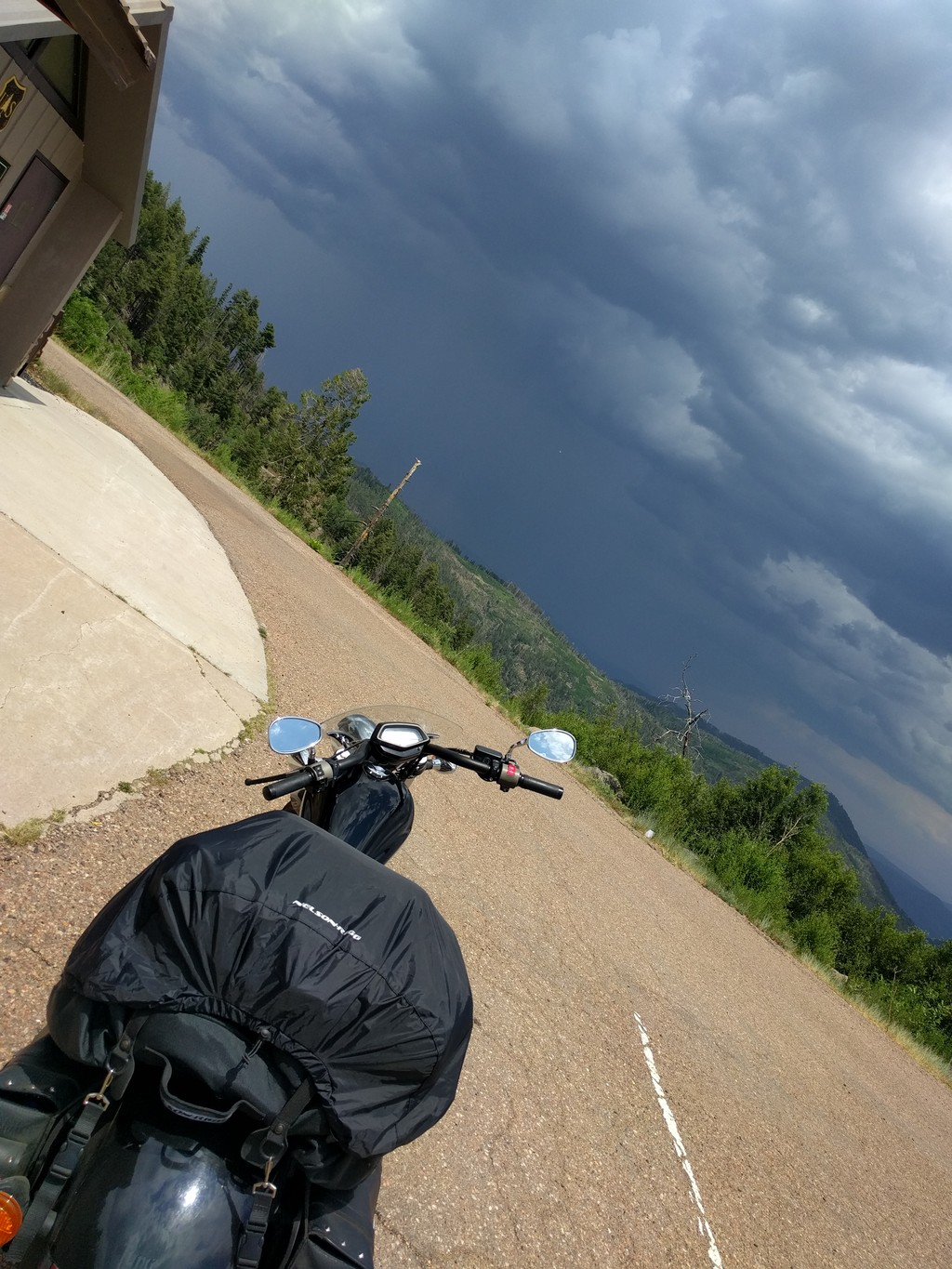 motorcycle storms